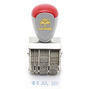 NANMEE 221 Rubber Stampe-Date Nglish Language 4mm. Height