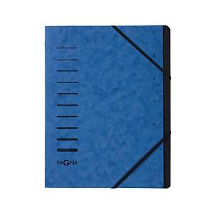 Ordnungsmappe Pagna 40058, 7 Fächer, mit Gummizug, blau