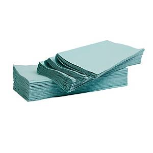 LYRECO GREEN 1 PLY V-FOLD HAND TOWELS - PACK OF 3600
