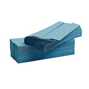 Blue 1 Ply C-Fold Hand Towels - Pack of 2880