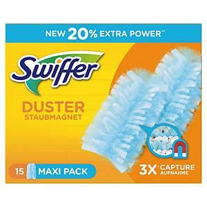 Recharges dépoussiérant manuel Swiffer XXL Duster, la boîte de 15 pièces