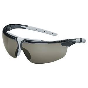 Sikkerhedsbriller Uvex i-3, grå linser, sort/lysgrå