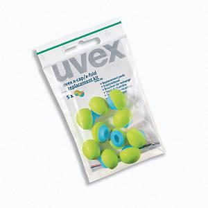 Udskiftningspropper Uvex x-cap, pose a 5 par