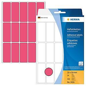 /BX360 HERMA 2416 HAFTETIK.20X50 L-ROT