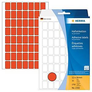 /BX1792 HERMA 2342 HAFTETIK.12X18 ROT