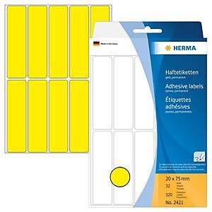 /BX320 HERMA 2421 HAFTETIK.20X75 GELB