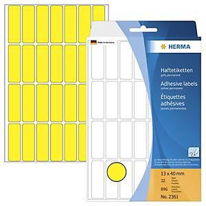 /BX896 HERMA 2361 HAFTETIK.13X40 GELB
