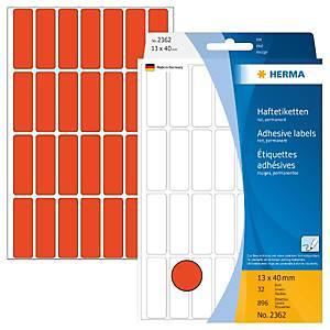 /BX896 HERMA 2362 HAFTETIK.13X40 ROT