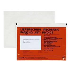 Dokumententaschen Docufix 1399, C5, mit Aufdruck Lieferschein / Rechnung, 500 St