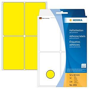 /BX128 HERMA 2491 HAFTETIK.52X82 GELB