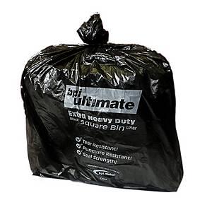 CHSA Black 15 X 24 X 24 Square Bin Bag - Pack of 5 Rolls of 100