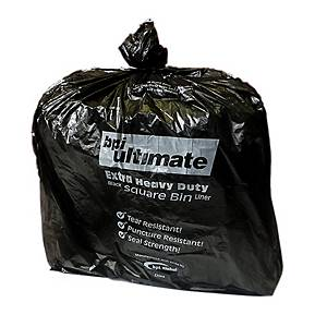 CHSA Black 15 X 24 X 24 Square Bin Bag - Pack of 5 Rolls of 100
