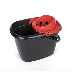 Red 14 Litre Mop Bucket With Wringer
