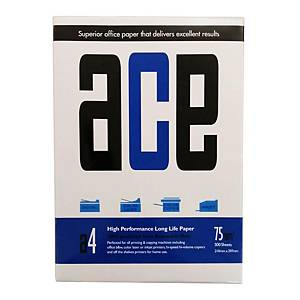 ACE A4 影印紙 75磅 - 每箱5捻 (每捻500張)