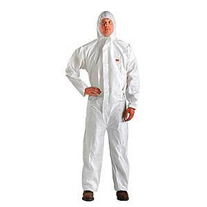 3M 4510 COVERALL CHEMICAL PROTECTION LARGE WHITE