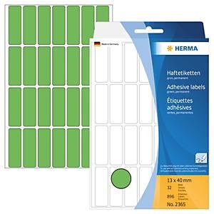 Universal-Etiketten Herma 2365, 13 x 40mm (LxB), grün, 896 Stück