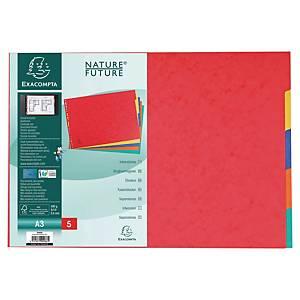 Exacompta neutrale tabbladen 5-tabs A3 in karton