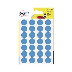 Kolorowe etykiety do zaznaczania AVERY ZWECKFORM kółka 15 mm, niebieskie