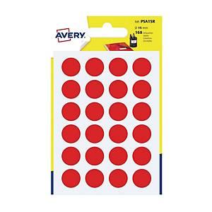 Kolorowe etykiety do zaznaczania AVERY ZWECKFORM kółka 15 mm, czerwone