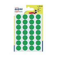 Avery Dot Label Green  15mm - Pack of 168