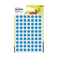 Avery Dot Label Blue  8mm - Pack of 490