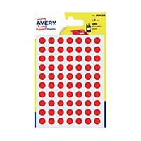 Avery Dot Label Red  8mm - Pack of 490