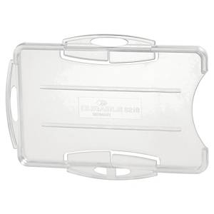 Durable 8919 double security pass holder transparent - pack of 10