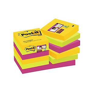 Post-it Super Sticky Notes 47,6x47,6 mm Rio colors - pack of 12