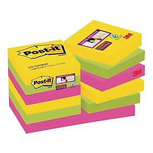 Karteczki Post-it® Super Sticky, Rio de Janeiro, 48x48mm, 12x90 sztuk