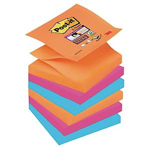 Pack 6 blocos 90 notas adesivas Z Post-it Super Sticky - cores Bangkok