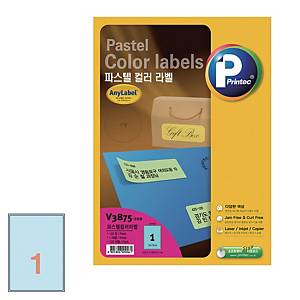 PK100 PRINTEC V8910 LASER LABEL SOFT BLUE