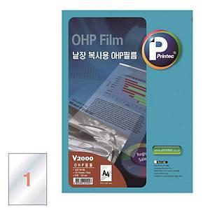 애니라벨 낱장 복사기용 OHP필름 V2000 100매