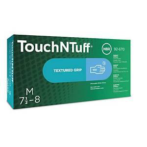 Jednorazové nitrilové rukavice Ansell TouchNTuff® 92-670, veľkosť 8.5-9, 100ks