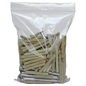 Ziplock bags PE 230 x 320 mm 90 micron - pack of 100