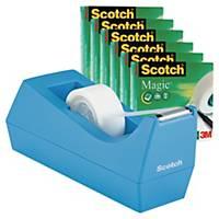 Tejphållare Scotch, inkl. 6 rullar Scotch Magic tejp 19mmx32,9m
