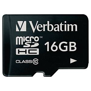 Micro SD paměťová karta Verbatim, 16 GB