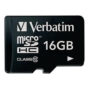 Carte mémoire Verbatim micro SDHC, 16 Go