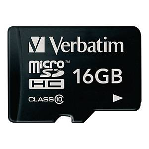 Verbatim micro SDHC geheugenkaart, 16 GB