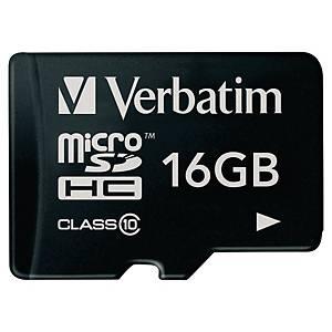 Minneskort Verbatim Micro SDHC, klass 10, 16 GB