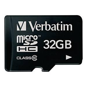 Verbatim micro SDHC geheugenkaart, 32 GB