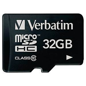 Minneskort Verbatim Micro SDHC, klass 10, 32GB