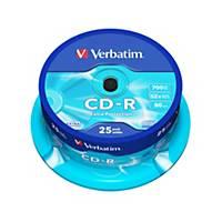 Verbatim CD-R 80 Minute 700Mb Spindle of 25