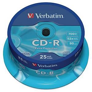 Płyta CD-R VERBATIM Spindle 52x, w opakowaniu 25 sztuk