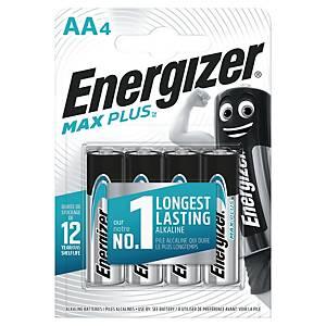 Batterier Energizer Alkaline Max Plus AA, pakke a 4 stk.