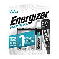 Energizer E91 Max Plus Batteries AA - Pack of 4