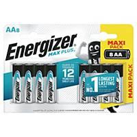 Batterier Energizer Alkaline Max Plus AA, pakke a 8 stk.