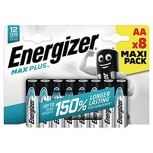 BATTERIE ALCALINE ENERGIZER MAX PLUS AA/STILO - CONF. 8