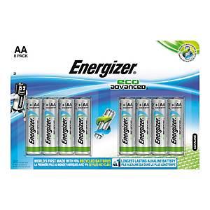 Pack de 8 pilhas alcalinas Energizer Max Plus AA/LR6