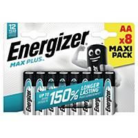 Batterier Energizer Alkaline Max Plus AA, förp. med 8 st.