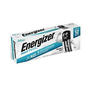 Energizer Max Plus AA alkaline batterij, per 20 batterijen